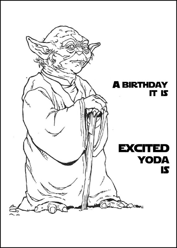 Star Wars Printable Coloring Book For Birthday Present or