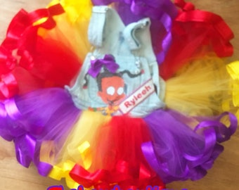 rugrats susie overall ribbon trimmed tutu set