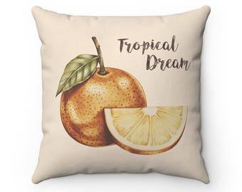 Tropical Dream Pillow Cover | Fruit Pillow Cover | Decorative Pillow  | Throw Pillow Cover