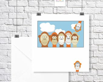 Orang-Utans Greeting Card