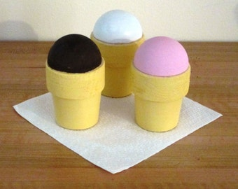Wood Pretend Ice Cream Cones/child's gift