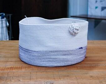 Extra Large Shallow Coiled Rope Basket - Organizing Basket, Toy Basket