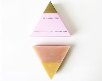 The Equilateral- Rose Gold, triangle soap, unique gift, unique gift for holiday, holiday gift ideas, christmas gift ideas, pink