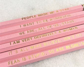 People Made Me A Star Pencil Set