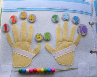 Counting To Ten Quiet Book Page / Birthday Gift For Toddler / Felt Activity Page / Unique Gift / Personalized