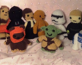 Star Wars Toys - Ready to ship - Crochet Star Wars Characters (Single or Set of 12)