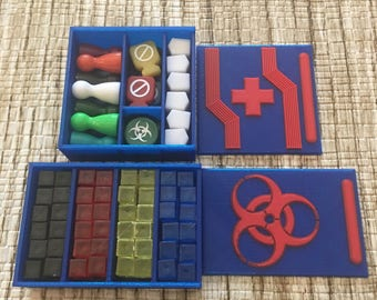 Pandemic board game box organizer