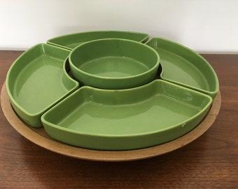 Ceramic Lazy Susan Snack and Dip Serving Platter