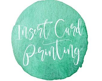 Insert Card Printing, Printed Cards, Book Request, Diaper Raffle, Recipe, Registry Card Printing