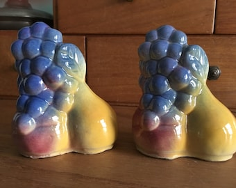 Shawnee Pottery-Fruits salt and peppers 1950s