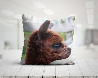 Cute Alpaca Pillow 18x18 Throw Pillows Llama Gifts Animal Gift For Her Best Friend Gift Alpaca Gifts Llama Pillow Alpaca Cushion Home Decor