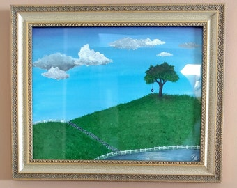 Whimsical Landscape Oil Painting