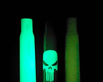 Handmade Halloween limited edition glow in the dark Genuine 50. caliber BMG bullet bottle opener.