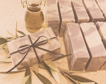 Handmade Luxury Olive Oil & Dead Sea Mud Soap Bar