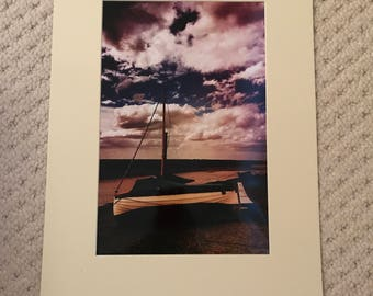 Sail away 12x8 print in a A4 mounted frame