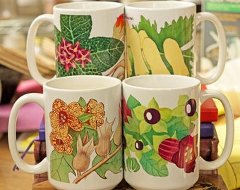 Four Witchy Baneful Herb Coffee Mugs 10% Off - Wiccan Gifts For Kitchen Witches
