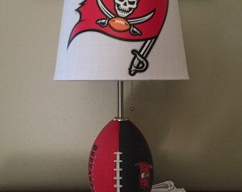 Tampa Bay Buccaneers Football Lamp. Nfl Sports Team.