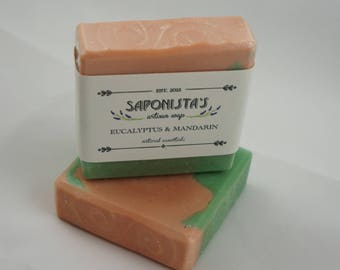 Eucalyptus and Mandarin Cold Process Soap Bar