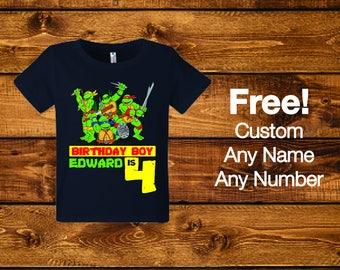 Sale! Ninja Turtle Birthday Shirt,...
