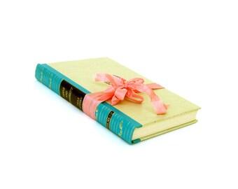Sense and Sensibility by Jane Austen, Vintage Jane Austen Book, Austen Wedding Decor,Turquoise Austen Book, Scarce Jane Austen Book, Janeite