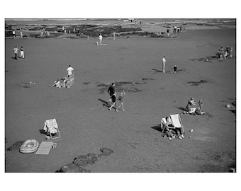 Black & White Photography, Seaside, Print, Wall Art, Beach, Scarborough, Retro, Fine Art