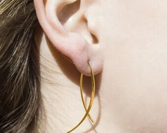 925 Silver Earrings Threader Earrings Ear Cuff Hoops by OtisJaxon
