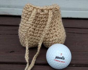 Testicle Golf Ball Holder