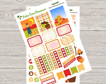 I Love Fall Planner Stickers for Erin Condren Life Planner Vertical