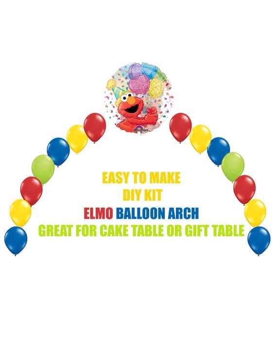 Elmo 1st Birthday Balloons Elmo Party Decorations Cake Table