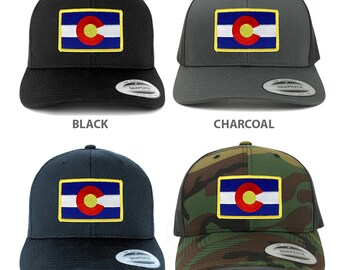 FLEXFIT Colorado Western State Flag Embroidered Iron on Patch Snapback Mesh Cap (6606-FPA506)