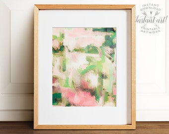 Abstract painting, PRINTABLE art, Colorful art, Abstract art, Modern painting, Abstract wall art, Brushstroke art, Abstract print, Pink art