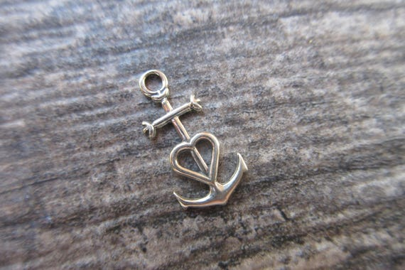Faith Hope Love Symbol Sterling Silver 925 Oxidized Finish 10mm X