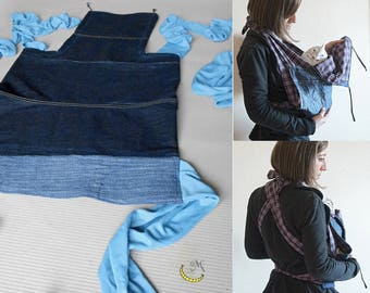Baby carrier - Mei Tai - Baby carrier - Bei-dai - Meh-dai - Adjustable eco-friendly cotton carrier for newborn - Baby shower gift
