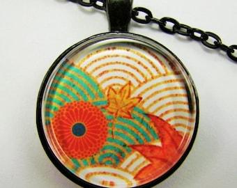 JAPANISCHER Zen-Garten Halskette--Geschenk für Künstler und Kunstliebhaber, tragbare Kunst, spirituelles fest