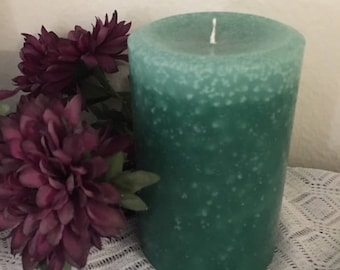 "Light Green Pillar Candle 4""x6.5"""