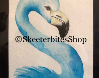 "Watercolor Seahorse Original  NOT A PRINT 6""x9"""