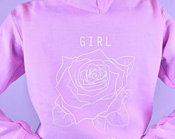 Girl Power Hoodie • Feminist Hoodie • Feminist Sweatshirt • Feminist Shirt • Women's Feminist Shirt « g186lightpink «« (basic, zip up) «