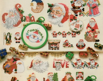 American School Of Needlework ~ Santa's To Cross Stitch ~ 50 Excellent Patterns ~ ~ ~