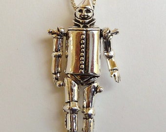 Sterling Silver Moveable Wizard of Oz Tinman Necklace
