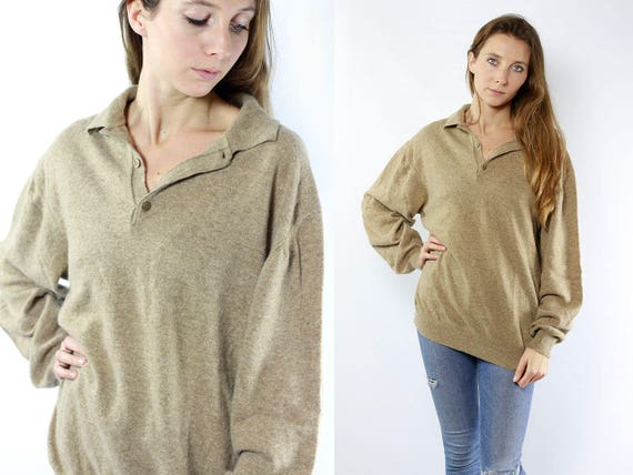 Cashmere Sweater / Cashmere Jumper / Cashmere Jumper Beige / Cashmere Sweater Beige / Beige Wool Sweater / Cashmere / Beige Wool Jumper