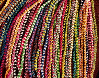 10+ Simple Chain Double Knot Friendship Bracelets | Bulk | Mystery Colors