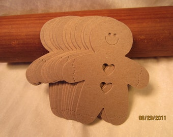 Gingerbread Men Chipboard Blanks for Decorating-DIY Gingerbread Blank Kit-Unfinished Chipboard- Christmas Crafts