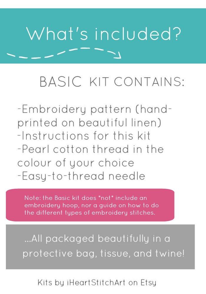 Peony Embroidery Kit Basic