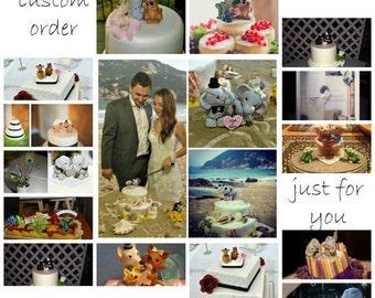 Custom Wedding Cake Topper Wedding Decor Memento or Wedding Gift