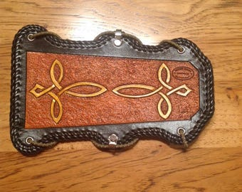 Leather Tooled  Archery Arm Guard