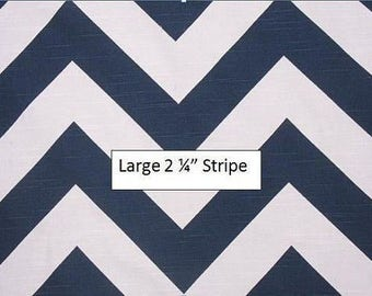 Navy and White Chevron Curtains - Rod Pocket - 63 72 84 90 96 108 or 120 Long by 24 or 50 Wide