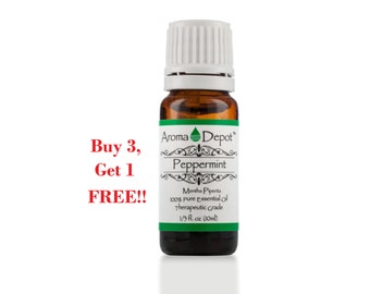 Peppermint Essential Oil 100% Pure, Undiluted, Therapeutic Grade  Buy 3, Get 1 FREE!!!!