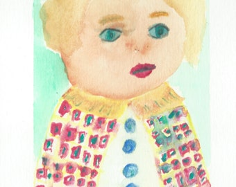 Original Watercolor Portrait Painting/ Illustration- My Little Prince