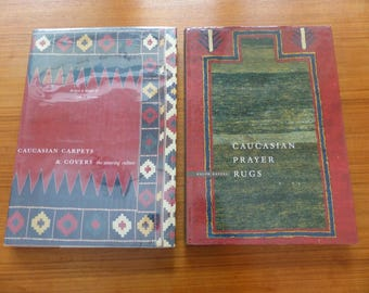 Pair of John Wertime and Ralph Kaffel Hardcover Reference Books on Middle Eastern Caucasian  Woven Coverings, Bags and Rugs