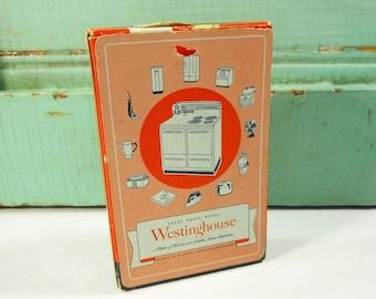 Vintage Orange Westinghouse Playing Cards, Deck of Vintage Advertising Cards